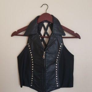 Faux leather vest size medium